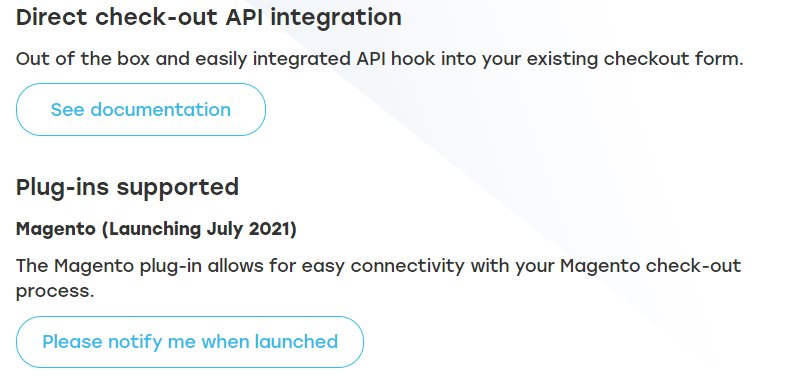 Image showing the details of Taxamo's current API integration