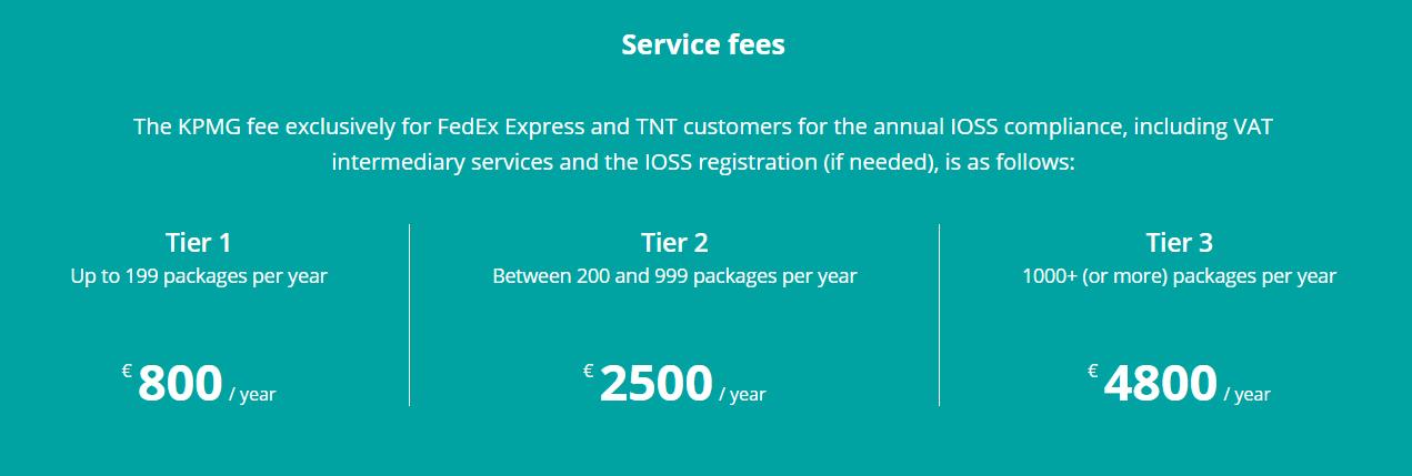 KPMG IOSS compliance - registration cost