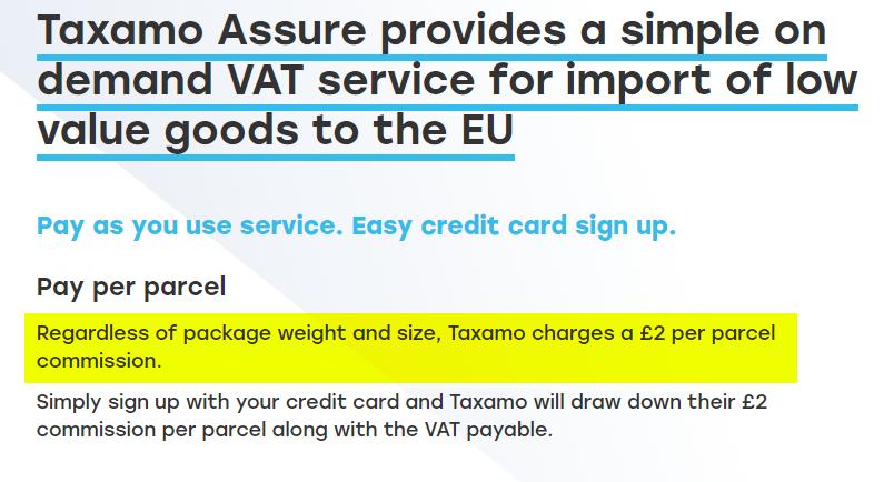 Taxamo assure pricing details